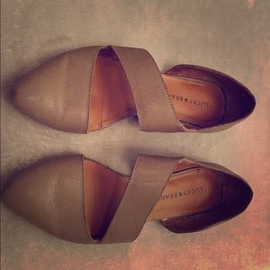 Lucky brand comfortable leather business flats